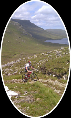 Ruairidh on Heb Cycle Challenge Route