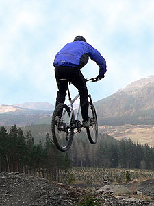 Paul showboating at Laggan