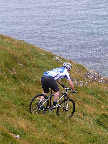 Steve going for it behind Port Voller